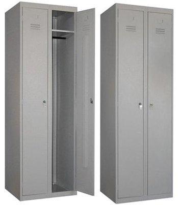 Шкаф металлический двустворчатый