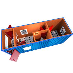 Блок-контейнер 8000 х 2400 х 2500 мм «ПРОХОДНАЯ»